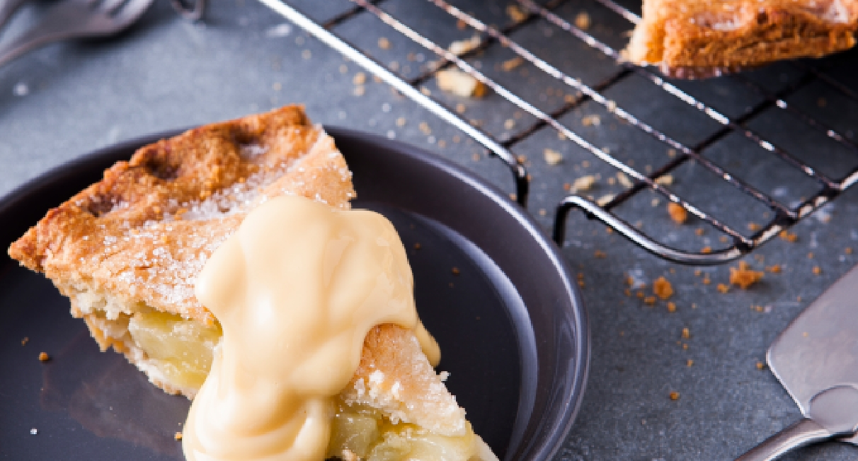 Apple Pie and Custard concept